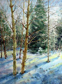 paintings of trees on Mt Charleston - Google Search