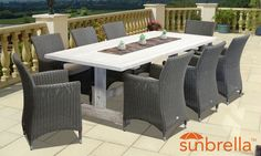 Whitewashed Teak Manchester Dining Setting By Royalle