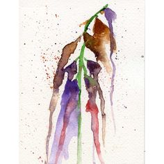 Abstract watercolour gouache painting of foxglove flowers. painting... ($19) ❤ liked on Polyvore featuring home, home decor, wall art, colorful paintings, colorful wall art, leaf wall art, textured painting and textured wall art