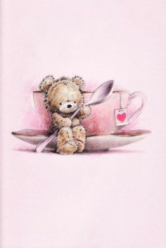 Tatty Teddy, Beautiful Drawings, Cute Drawings, Cute Images, Cute Pictures, Urso Bear, Scrapbook Images, Bear Graphic, Blue Nose Friends