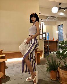 Blackpink Fashion, Korean Fashion, Fashion Outfits, Mode Kpop, Lisa Blackpink Wallpaper, Blackpink Video, Kim Jisoo, Black Pink Kpop, Blackpink Photos