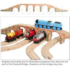Orbrium® Toys 6 Arches Viaduct Bridge for Wooden Railway Track Fits Thomas Trains Brio Chuggington set (reg $63.24)