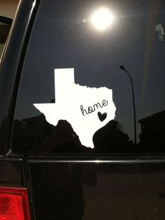 Customized cricut vinyl state auto window decal.