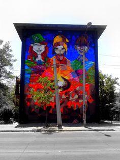 Street Art Museo a Cielo Abierto in Chile, Santiago, San Miguel 2