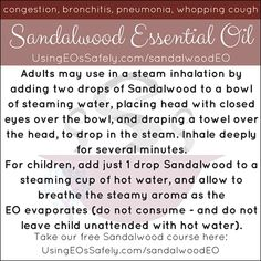 Using Sandalwood Essential Oil Safely Essential Oil Blends, Essential Oils, Sandalwood Essential Oil, Get Over It, Aromatherapy, Bath And Body, Natural Remedies, Essentials, How To Apply