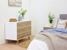 Master great interior design and striking style with the Kennedy Three Drawer. Simple and attractive, this bedroom drawers unit offers essential storage. Kids Storage Furniture, Kids Bedroom Storage, Bedroom Drawers, Bedroom Table, Table Furniture, Bedroom Furniture, Home Furniture, Affordable Furniture, Online Furniture