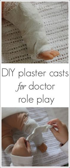 Create some real DIY plaster casts for teddies and dollies to make doctor role-play even more authentic and educational!
