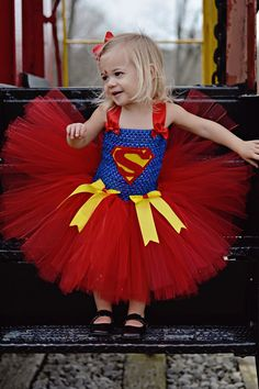 Super Woman Superman Inspired Tutu Dress by OurSweetSomethings4U