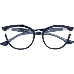 Dita Eyewear Mikro butterfly frame glasses ($702) ❤ liked on Polyvore featuring accessories, eyewear, eyeglasses, blue, butterfly glasses, dita eyewear, dita eyeglasses, dita glasses and blue glasses