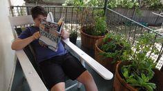 Ian @jonpertwee - our son Tom pretending to read Leonardo Da Vinci but really reading a Beano comic. #612bookfest