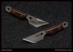 EDC fixed blades by Eddleman Knives