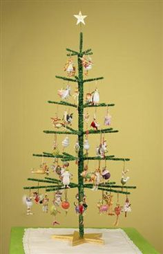 If we opted to make these, we could display lights in other areas and leave the table top trees for ornament display/sales.