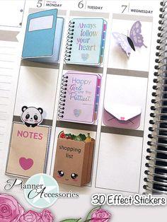 Effect Stickers Planner Stickers Erin Condren Functional Bullet Journal Books, Bullet Journal School, Bullet Journal Ideas Pages, Bullet Journal Inspiration, Cute Planner, Planner Pages, Happy Planner, Planner Stickers, Journal Stickers