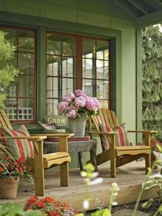Love this entire porch
