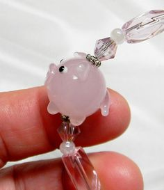 PINK PIG  Interchangeable Beaded Medical Alert ID Tag / Alert Tag Replacement Bracelet Strand Only on Etsy, $14.00