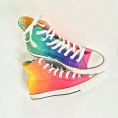 e78fa2b467b4 Tie Dye Rainbow High Top Custom Converse Shoes
