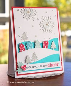 Papertrey Ink October Blog Hop - Pastel Christmas Village! | A blog called Wanda