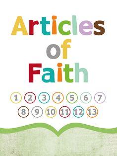 Articles of Faith printable