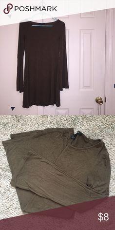 Long Sleeve T-shirt Dress Olive Green Forever 21 Dress Forever 21 Dresses Long Sleeve