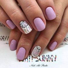 I like only the dream catcher Creative Nail Designs, Creative Nails, Acrylic Nail Designs, Nail Art Designs, Acrylic Nails, Gem Nails, Nail Manicure, Pink Nails, Trendy Nails