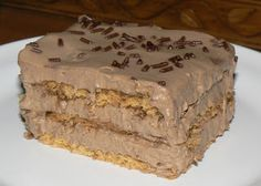Le palais gourmand: Gâteau frigidaire au chocolat Biscuits Graham, Cold Meals, Graham Crackers, Cheesecakes, Pie, Lunch, Frigidaire, Cold Food, Comme