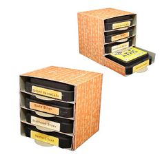 Square ink storage boxes.