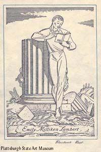 Rockwell Kent (1882-1971), American / bookplate for Emily Milliken Lambert, 1928