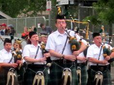Bag Pipers marching in Memorial Day Parade