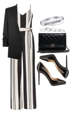 """""""#14053"""" by vany-alvarado ❤ liked on Polyvore featuring Topshop, Helmut Lang, Christian Louboutin, Chanel, Kendra Scott and Hermès"""