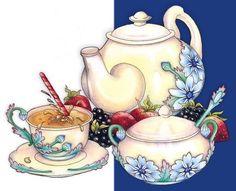 Схема вышивки «Чайная церемония» - Схемы вышивки - yelenaazia2 - Авторы - Портал «Вышивка крестом»