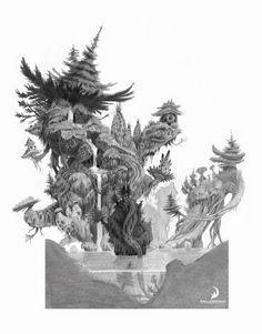 The Croods Concept Art by Nicolas Weis Concept Art World, Fantasy Concept Art, Plant Illustration, Landscape Illustration, Vegetal Concept, Plant Sketches, Bg Design, Plant Design, Graphic Design