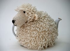 Sheep Tea Cosy Crochet - Can one of my crocheting friends make me this?