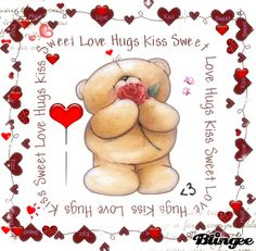 Forever friends Gifs images and Graphics. Forever friends Pictures and Photos. Sweet Love Pictures, Love Is Sweet, Cute Love, Sweet Hug, Sweet Kisses, Love Hug, Love Bear, Big Bear, Valentines Day Images Free