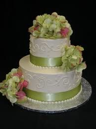 small wedding cake- but it would be purple and ivory for me