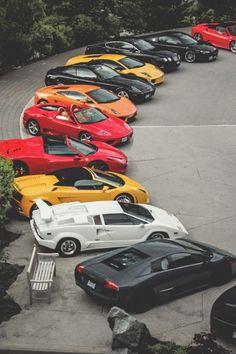 Oh, What do I drive today??Black Ferrari LaFerrari Lamborghini Ferrari F430 Spider Maserati Quattroporte