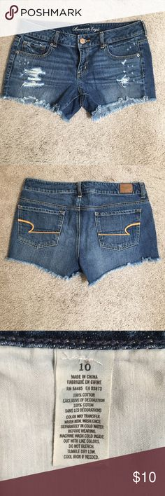 American eagle denim cut off shorts Distressed American Eagle Outfitters Shorts Jean Shorts