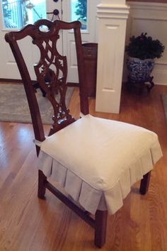 Slipcovered Dining Chair Seat CoversDining Room