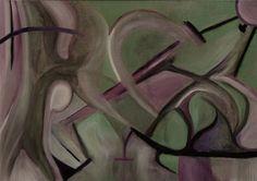 """""""La lotta"""" olio su tela 50 cm x 70 cm"""