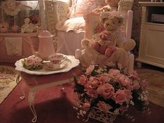 Shabby Cats and Roses: Roses, Bears & Teacups for Tea Tuesday ~ Stocking Giveaway