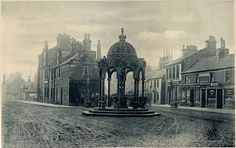 Location: Overtoun Park, Mill St, Cambuslang, Burgh of Rutherglen, Lanarkshire Rutherglen's Jubilee Fountain was originally erected at the west end of Main Street (the Gushet) in 1897 to cele… Glasgow Scotland, Scotland Travel, Old Photos, Vintage Photos, Glasgow Architecture, Drinking Fountain, Slums, Local History