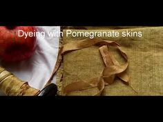 Using Pomegranate skins to dye silk, cotton and Linen . How your pre mordant affects your colour and also altering colours after you dye with iron water. Natural Dye Fabric, Natural Dyeing, How To Dye Fabric, Pomegranate, Colours, Youtube, Crafts, Granada, Manualidades