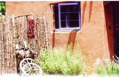 These colors inspire me. Adobe and Pines Inn, Taos NM.
