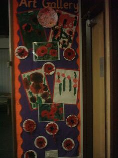 Art Gallery Display, Art and Colour, classroom displays, display, colour, creative, flowers, paint,Early Years (EYFS), KS1 & KS2 Primary Teaching Resources