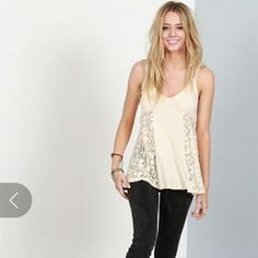 Host pick 1/15 Lace Boho Top Now available,  this subtle and sweet tank can be dressed up or down and will make a sweet addition to your closet.  Color | Natural   Size | 2 S,  2 M,  and 2 L currently available   No Offers | Discount with bundle   Please do not purchase this listing.  Let me know what size you would like and I will make a special listing just for you! Pol Tops Tank Tops