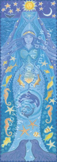 Water Goddess Banner by Wendy Andrew --- http://www.paintingdreams.co.uk/image.php?name=water-goddess&gallery=folk_art_goddess