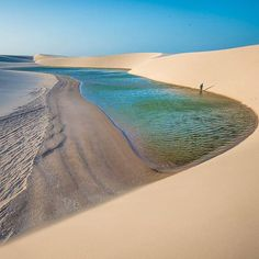 The Lençóis Maranhenses National Park, Maranhão State, Northeastern Brazil.
