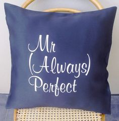 Items similar to Mr Always Perfect Scatter Cushion Cover on Etsy Scatter Cushions, Throw Pillows, Sofa Chair, Decoration, Home Projects, Sofas, Chairs, Unique Jewelry, Cover
