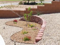 Sidewalk Edging for Sloped Yards | See circular driveway on a slope to view the plan and more pictures.
