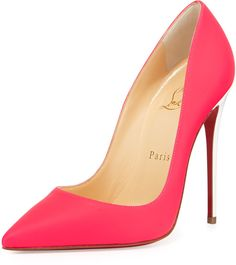 Christian Louboutin So Kate Matte Patent Red Sole Pump, Fuchsia on shopstyle.com