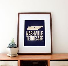 Nashville Tennessee Love Print 11 x 14 by amycnelson on Etsy, $32.99